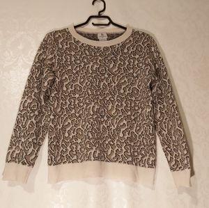 Benedetta B Italy Leopard print crew neck sweater